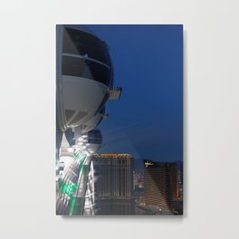Las Vegas Strip from the Highroller Metal Print