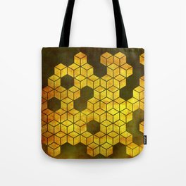 Golden cubes Tote Bag