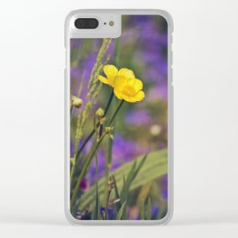 Buttercup Blues Clear iPhone Case