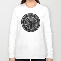 tree rings Long Sleeve T-shirts featuring Tree Rings by Irene Leon