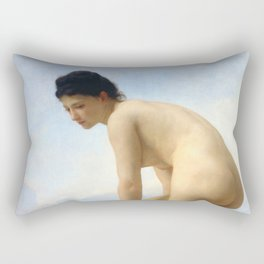 "William-Adolphe Bouguereau ""The Bathers"" Rectangular Pillow"