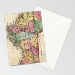 Vintage Map of The Florida Panhandle (1870) Stationery Cards