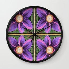 Flower Cross Wall Clock