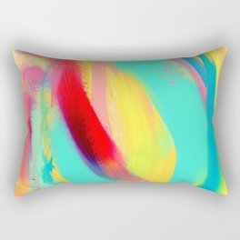 Be Proud, Be OK colorful abstract painting mint green baby pink emerald green blue yellow modern Rectangular Pillow