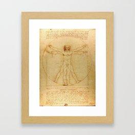 The Vitruvian Man 1405 (L Uomo Vitruviano) Leonardo da Vinci Artwork for Prints Posters Tshirts Men Framed Art Print