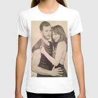 allyson johnson T-shirts featuring Jamie Dornan - Dakota Johnson by Virginieferreux