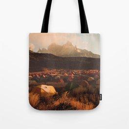 Patagonia Chile Morning Camp Tote Bag