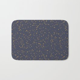 Speckles I: Dark Gold on Blue Vortex Bath Mat