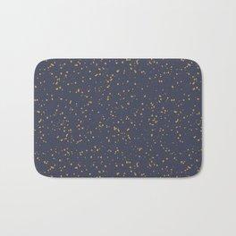 Speckles I: Dark Gold on Blue Vortex Bath Mat