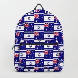Mix of flag: Israel and Australia Backpack