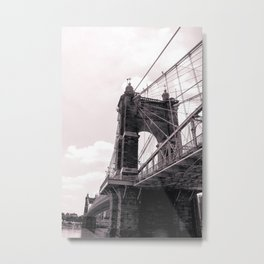 John A. Roebling Suspension Bridge Close-up Metal Print