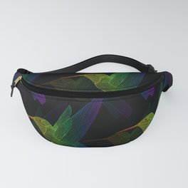 Rainbow Hummingbird Fanny Pack