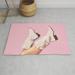 These Boots - Glitter Pink Rug