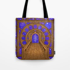 orvio illuminated space mandala Tote Bag