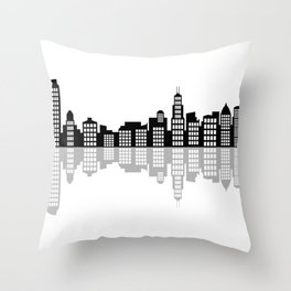 chicago skyline Throw Pillow