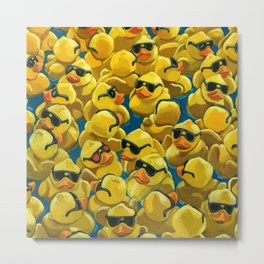 One of a Kind - Rose Colored Glasses - Rubber Ducks Metal Print