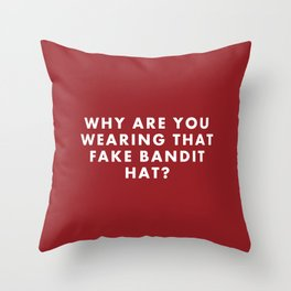"Fantastic Mr Fox - ""Why are you wearing that fake bandit hat?"" Throw Pillow"