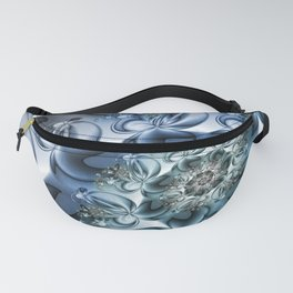 Dynamic Spiral, Abstract Fractal Art Fanny Pack