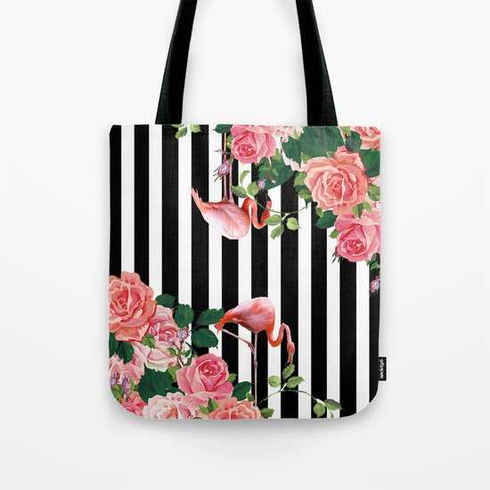 tropical flamingo Tote Bag