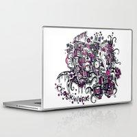 clockwork Laptop & iPad Skins featuring Clockwork by Voodoodle