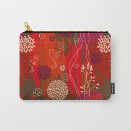 Boho Floral Pattern Var. 4 Carry-All Pouch
