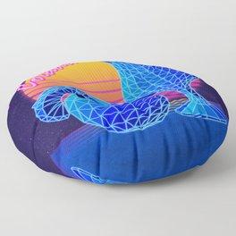 Pina Colada Retro Floor Pillow