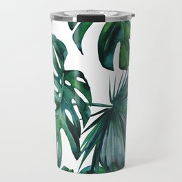 Tropical Palm Leaves Classic II Travel Mug