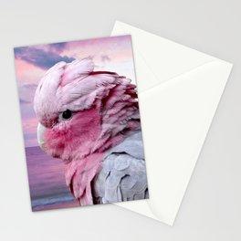 Pink Galah Cockatoo Stationery Cards