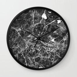 Emprador monochrome marble splash Wall Clock