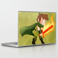 dungeons and dragons Laptop & iPad Skins featuring Dungeons, Dungeons, and More Dungeons by Sir-Snellby