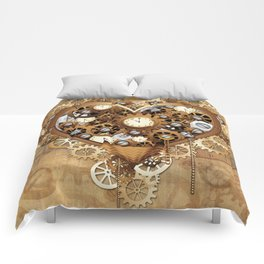 Steampunk Heart Love Comforters