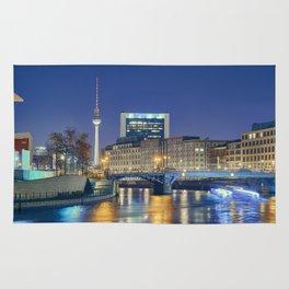 Berlin. Spree at night Rug
