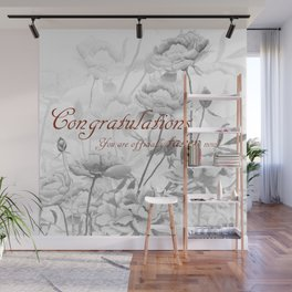 Engagement present marriage present Wall Mural