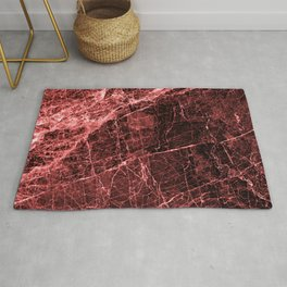 ABSTRACT RED PEAR Rug
