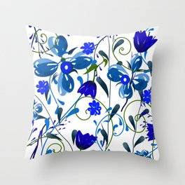 Floral pattern,illustration Throw Pillow