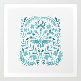 Floral folk-art Art Print