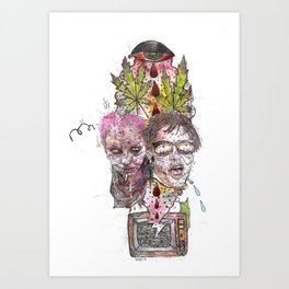 TV Party Art Print
