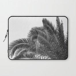 Summer Palm Leaf Print {3 of 3} | B&W Black and White Sun Sky Beach Vibes Tropical Plant Nature Art Laptop Sleeve
