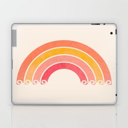 Whimsical Vintage Rainbow Waves Laptop & iPad Skin