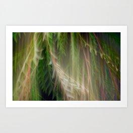 Fleur Blur Series-Abstract Decorative Leaves Art Print