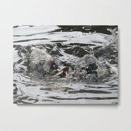 TEXTURES -- Troubled Waters Metal Print