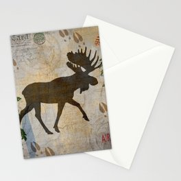 POSTCARD MOOSE Stationery Cards