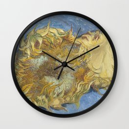 Two Sunflowers Wall Clock