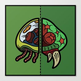 Old & New Metroid Canvas Print