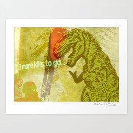 An unZen dinosaur moment Art Print