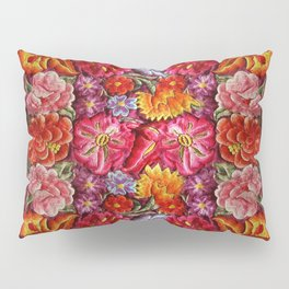 """Rose Huipil Embroidered"" Pillow Sham"