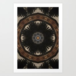 """Crow Wing Shield Mandala (created from the painting """"Between the World"""") Art Print"""