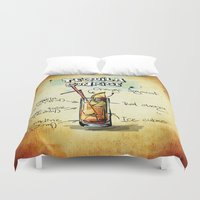 tequila Duvet Covers featuring Tequila Sunrise by jamfoto