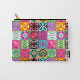 Bohemian Jungle Quilt Tiles Carry-All Pouch