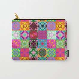 Bohemian Jungle Quilt Tiles Carry-All Pouch